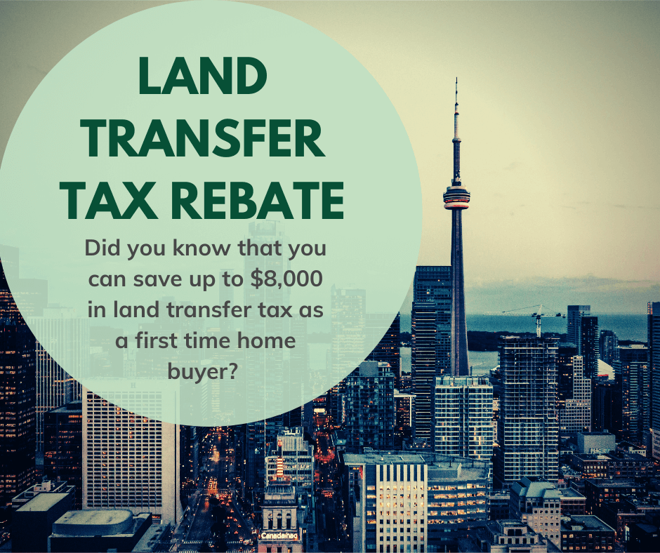 Land Transfer Tax Rebate for First Time Home Buyers